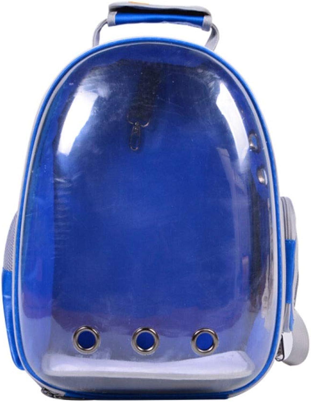 Guyuexuan Pet Bag, Portable Cat Bag, Space Bag, Dog Backpack, Cat Out Bag, Transparent Back Cat Bag, Best Gift (color   blueee)