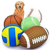 VIEWLON Jouets pour Chien Couinants - 5 Pack Balle Jouet Chien, Jouets à Mâcher Durables pour Le Nettoyage des Dents, Interactif d'entraînement pour Chiots, Petits et Moyens