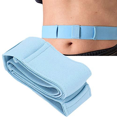 Cinturón de plomo para diálisis peritoneal Soporte de espalda abdominal ajustable y transpirable, dispositivo de fijación de catéter Cinturón de diálisis abdominal Tubo (M)
