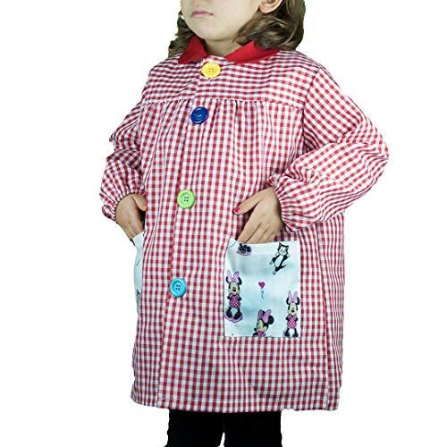KLOTTZ - BABY MINNIE GUARDERIA BATA ESCOLAR Niñas color: ROJO talla: 2