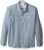 Wrangler Authentics Men's Long Sleeve Flannel Shirt, Tradewinds Gingham, Small