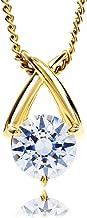 Etoile Heart スワロフスキー ジルコニア 一粒 直径6.5mm ダイヤ1.0ct ネックレス シルバー925 (イエローA)