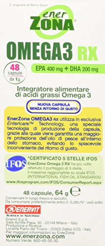 Enervit Enerzona Integratore Alimentare Omega 3 RX - 48 Compresse