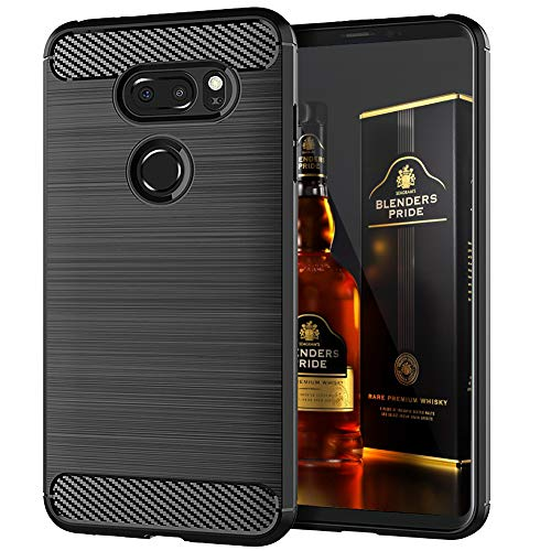 LG V35 ThinQ Case Slim Thin,LG V30 / LG V30 Plus/LG V30S ThinQ/LG V35 Case Silicone Soft Skin Flexible TPU Anti-Scratches Protective Case Cover for LG V35 (Black)