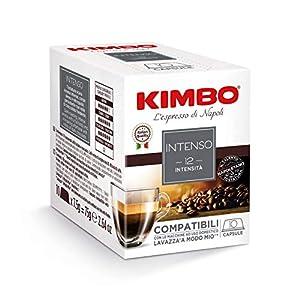 Kimbo Capsule di Caffè - Compatibili Lavazza a Modo Mio - Intenso (8 Confezioni da 10 Capsule, Totale 80 Capsule)