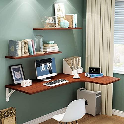 Escritorio de esquina para computadora, mesa plegable de hoja abatible montada en la pared, PC de oficina en casa Escritorio para computadora portátil Estación de trabajo de estudio para juegos