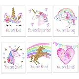 Elefante Dreams Unicornio arco iris motivacional decoración de pared pósteres hechos en Estados Unidos Unicornio decoración de recámara para niñas decoración de habitación infantil decoración...