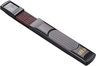 Kalaok 6 cuerdas Pocket Guitar Chord Trainer Folk Guitar Practice Tool Gadget 6 trastes con acordes giratorios Pantalla de cuadro para principiantes digitación Práctica