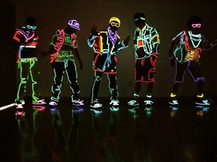 lumi/ères de corde au n/éon avec batterie Songway EL fil rougeoyant Strobing clignotant c/âble /électroluminescent pour Halloween Cosplay robe d/écoration de f/ête de carnaval de No/ël Festival Pumpkin