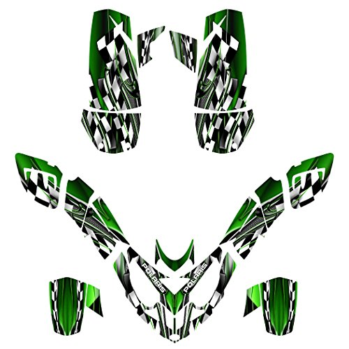 Polaris Predator 500 ATV Graphics Decal Kit By Allmotorgraphics No2500-green fits all years