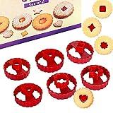 Formine Biscotti, 6pz Tagliabiscotti Set, Stampini Forme Biscotti, Tagliapasta per Biscotti Bakeware Fondente Torta Paletta
