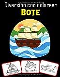 Diversión con colorear Bote: Más de 30 barcos antiguos, barcos de vela, barcos de pesca, barcos piratas y muchos más para colorear