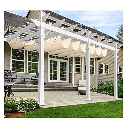 XJJUN Vela De Sombra, Parasol Retráctil con Patrón De Ondas, Aislamiento Térmico Y Refrigeración, para Terrazas De Jardín, Cubierta De Pérgola (Color : Beige, Size : 0.9x6m)