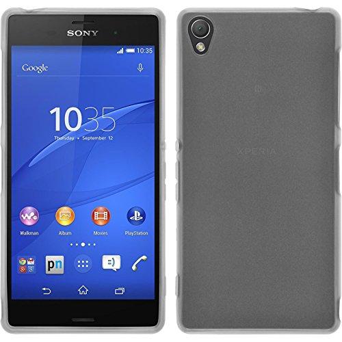 PhoneNatic Custodia Compatibile con Sony Xperia Z3 Cover Bianco Trasparente Xperia Z3 in Silicone + Pellicola Protettiva