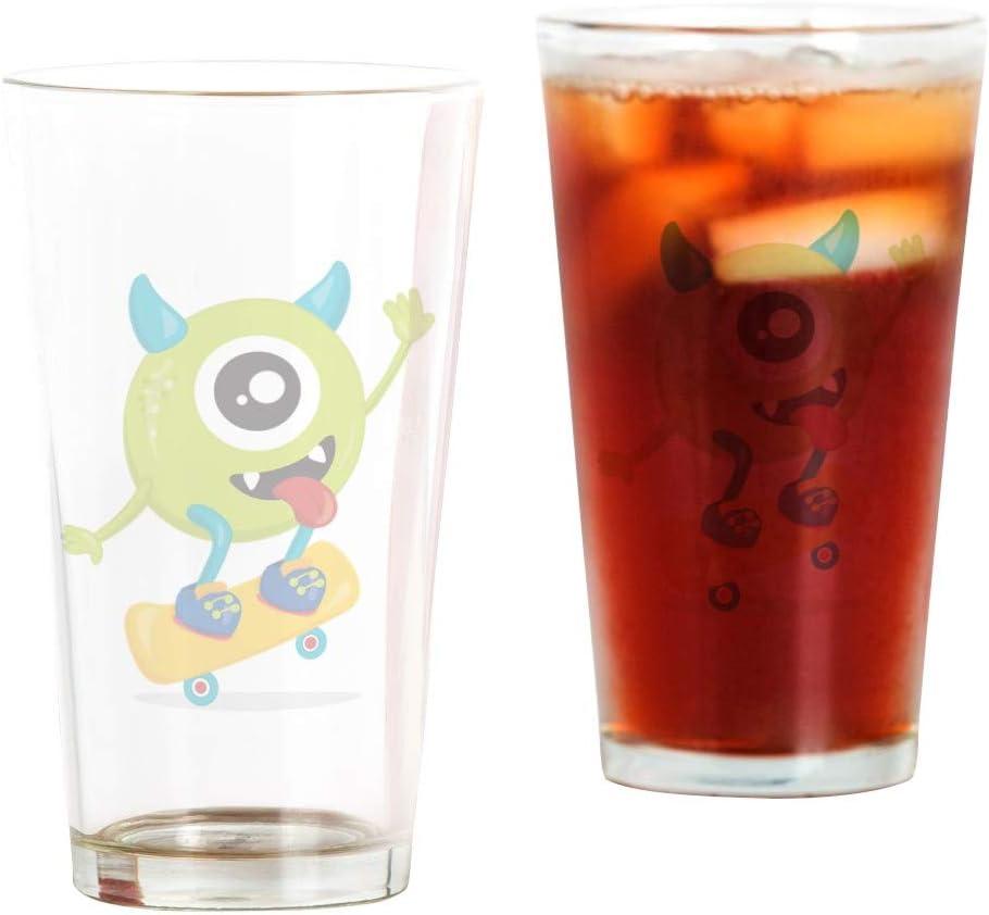 Pint Max 67% OFF Drinking Glass One Eyed on Kansas City Mall Monster Skateboard