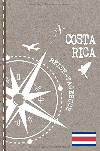 Costa Rica Reisetagebuch: Reise Tagebuch zum Selberschreiben, ca. A5 - Journal Dotted Punkteraster, Bucket List für Urlaub, Ferien, Auslandsjahr, Auswanderer - Notizbuch Dot Grid punktiert