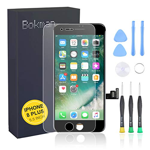 bokman voor iPhone 8 Plus Scherm LCD Touchscreen Display Montage voorpaneel met benodigde gereedschapsset, Zwart