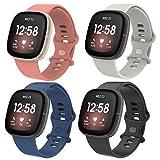 Simpeak Correa Compatible con Fitbit Versa 3/Fitbit Sense(5.5-6.7), Silicona Reloj de Recambio Braza...