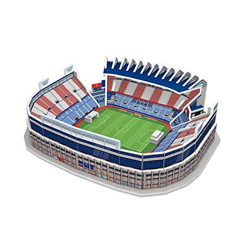 ATLETICO DE MADRID- Nanostad, Puzzle 3D Estadio Vicente Calderón Mini (Kick Off Games 1)