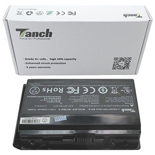 Tanch Laptop Akku W370BAT-8 6-87-W37SS-427 für CLEVO W370 W370SS W355SS W350ET Mountain Studio MX 15/17 IVY Schenker XMG A504 A722 Batterie 14.8V 76.96Wh