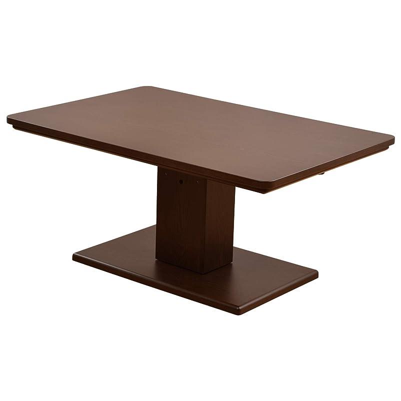 行政セラークラブ山善(YAMAZEN) 昇降式こたつテーブル (120×80cm 長方形) こたつ ダイニングこたつ JLTK-HD1280