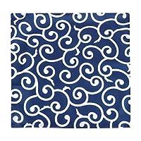 DaMohony 2個 青と白 枕カバー クッションカバー ソファ 枕ケース ホーム デコ用