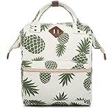 Oflamn Zaino Scuola Superiore Università Vintage per Uomo e Donna Zaino Pc 14/15.6 Pollici - Doctor Style School Backpack (1.0 ananas)