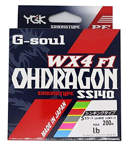よつあみ(YGK) PEライン Gソウル オードラゴン WX4F1 200m 0.6号 11lb 4本 5色 SS140