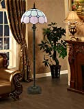 Paralume in vetro fatto a mano con un design colorato, illuminazione romantica e soffusa, le lampade in stile Tiffany non sono solo arredamento per la casa, ma possono anche essere conservate come oggetti da collezione.