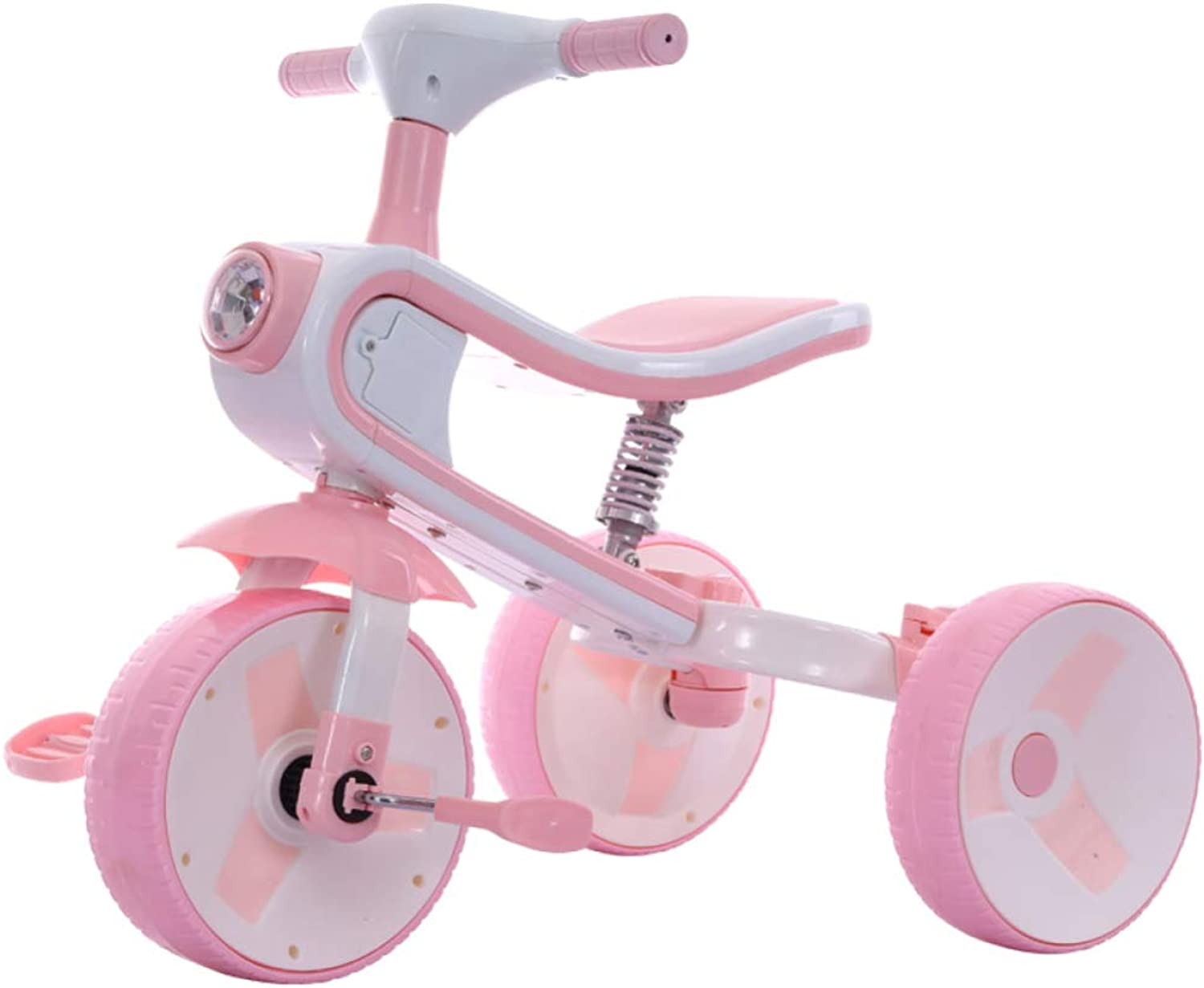 JYY Tricycle Kids And Balance Bike Infant Scooter Baby Walker Bike,Folding One Car Dual-use Ride Toy For 2-6 Years Old,Pink