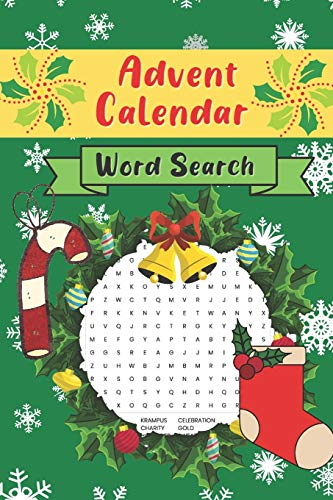 Advent Calendar Word Search: Countdown to Christmas Activity Book | Puzzle Advent Calendar