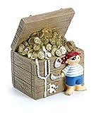 Mousehouse Gifts - Tirelire trésor de pirate - pour enfant - fille/garçon