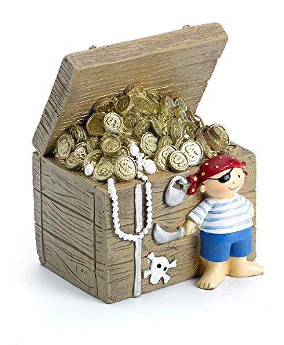 Mousehouse - Kinder Spardose - Schatztruhen-Design - Geschenk für Jungen/Mädchen
