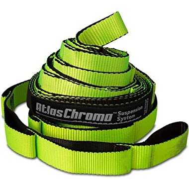 Eagles Nest Outfitters ENO Atlas Chroma Hammock Straps, Suspension System, Neon/Black
