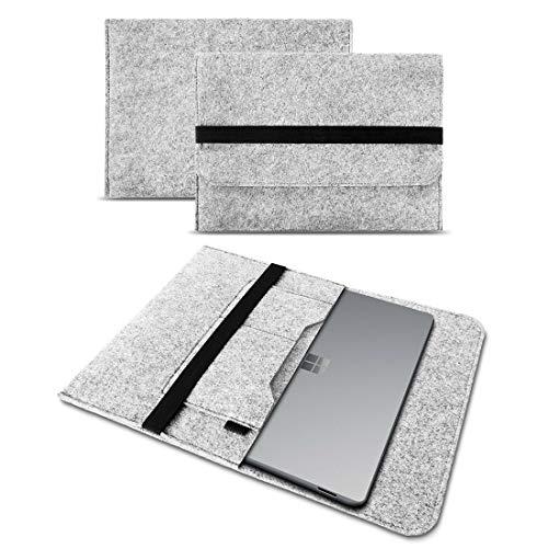 UC-Express Tablet Tasche kompatibel für Microsoft Surface Go/Go 2 10 Hülle Filz Hülle Schutz Cover Schutzhülle, Farbe:Hell Grau