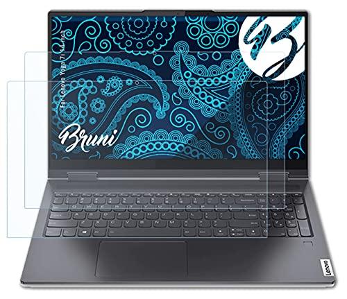Bruni Schutzfolie kompatibel mit Lenovo Yoga 7i 14 inch Folie, glasklare Bildschirmschutzfolie (2X)