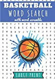 Basketball word search: Challenging Puzzle book For and adults | 60 puzzles with word searches and scrambles | Find more than 400 words`| Large ... Basketball Player, Friends, Kids & Family.