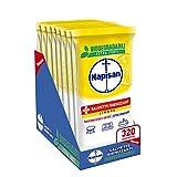 Napisan, 320 Salviette Igienizzanti, Multisuperfici e Biodegradabili, 8 Confezioni da 40 Pezzi, Limone