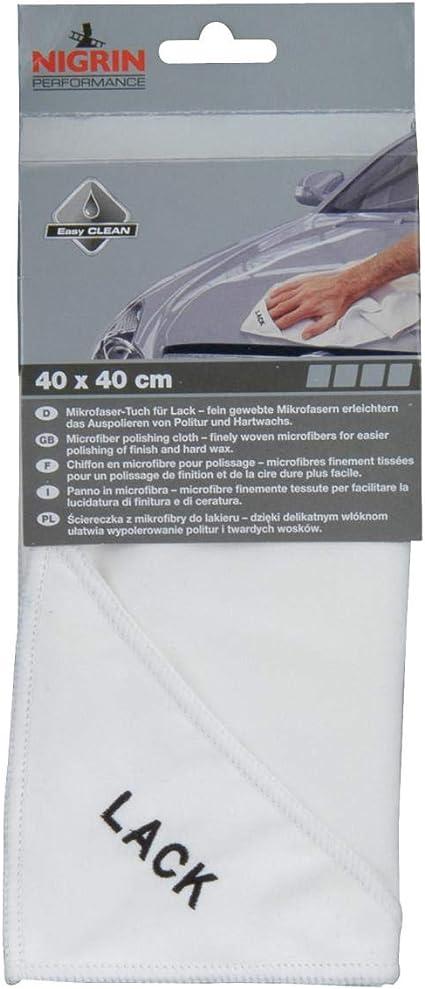 Nigrin 71121 Microfasertuch Lack 40 X 40 Cm Auto