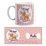 Kembilove Taza de Desayuno de Perro Chihuahua Personalizada con Nombre – Taza de Desayuno Razas de Perro – Taza de Café y Té Mascota – Taza de Cerámica Impresa – Tazas de Perro Chihuahua