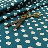 Blau Weiß gepunktetes Spots Muster, Velours Samt Print