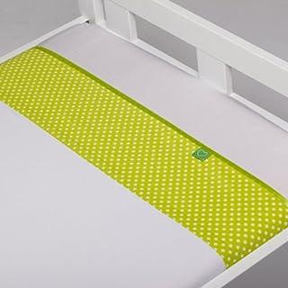 Briljant bea drap housse bébé coton à pois (citron vert) :  -75 x 100 cm