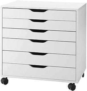"IKEA 401.962.41 Alex کشو روی کاستورها ، سفید ، 26 ""قد ، 19"" عرض ، 26 ""طول ،"