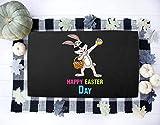 Doormat Dabbing Rabbit Happy Easter Day