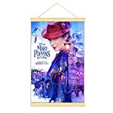 WPQL Mary Poppins - Póster de cine para dormitorio