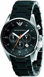 Emporio Armani Sportivo Men's Black Dial Stainless Steel Chronograph Watch - AR5858