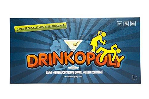 Drinkopoly – Das verrückteste Spiel Aller Zeiten - Party Spiele für Erwachsene und Studenten mit 50 Erweiterungskarten mit Aufgaben, eine (un) vergessliche Erfahrung, EIN Trinkspiel Geschenkset