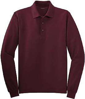 6b25c507 Joe's USA Mens Long Sleeve Polo Shirts in 10 Colors. Regular and Tall Sizes: