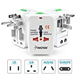 Insten Universal Worldwide Travel Adapter for 150+ Countries, International Power Charger, European Adapter, Wall Charger Power Plug for USA EU UK AUS Compatible with iPhone, iPad, Samsung Galaxy