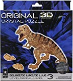 BePuzzled Deluxe 3D Crystal Jigsaw Puzzle - T-Rex Tyrranasaurus Dinosaur Assembly Brain Teaser, Fun Model Toy Gift Decoration for Adults & Kids Age 12 & Up, Brown, 49Piece (Level 3) (31059)